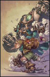 Battle Chasers Poster - Lines by JoeMad by Markovah
