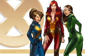 X-Men: Phoenix Shadowcat Rogue by Markovah
