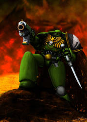 Salamander Warhammer 40k by MrFlyX