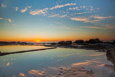 Dawn at the Rockpool by RubySummit