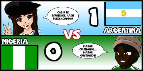 Argentina VS Nigeria by Dougieus