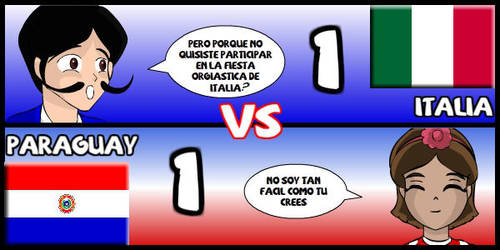 Italia VS Paraguay by Dougieus