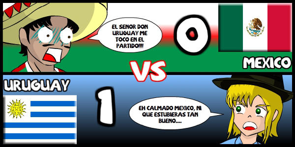 Mexico VS Uruguay by Dougieus