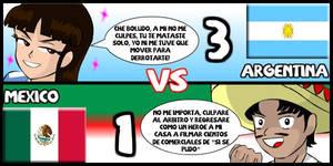 Argentina VS Mexico by Dougieus