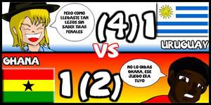 Uruguay VS Ghana Animondos by Dougieus