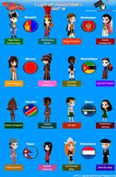 Chibi Countries in the World - Part 16 - Animondos by Dougieus