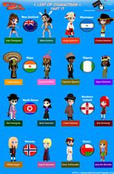 Chibi Countries in the World - Part 17 - Animondos by Dougieus