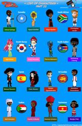 Chibi Countries in the World - Part 22 - Animondos by Dougieus