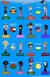 Chibi Countries in the World - Part 25 - Animondos by Dougieus