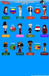 Chibi Countries in the World - Part 26 - Animondos by Dougieus