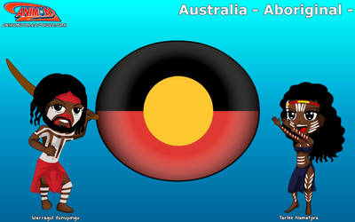 Chibi Australian Aboriginal - Animondos - by Dougieus