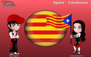 Chibi Catalonia, Spain - Animondos - by Dougieus