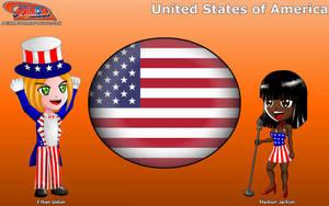 Chibi United States - Animondos - by Dougieus