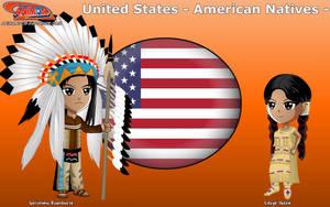 Chibi Apache people, USA - Animondos - by Dougieus