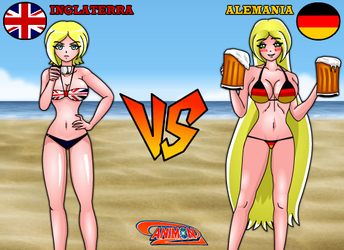 Inglaterra VS Alemania de Animondos by Dougieus