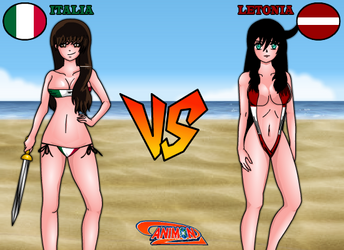 Italia VS Letonia de Animondos by Dougieus