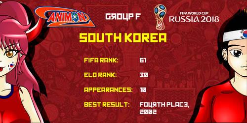 South Korea - Animondos World Cup Russia 2018 by Dougieus