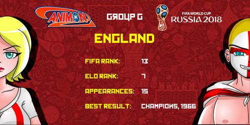 England - Animondos World Cup Russia 2018 by Dougieus