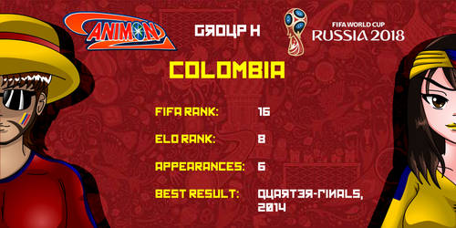 Colombia - Animondos World Cup Russia 2018 by Dougieus