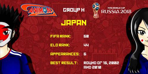 Japan - Animondos World Cup Russia 2018 by Dougieus
