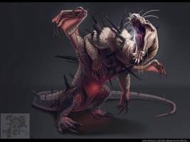 Crazed Cave Dragon Rendered by Coalbones