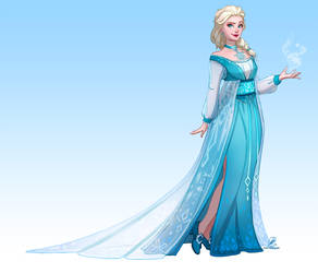 Redesigning Elsa's dress - Speedpaint by Coalbones