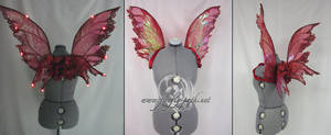 Red LED fairy wings by Firefly-Path