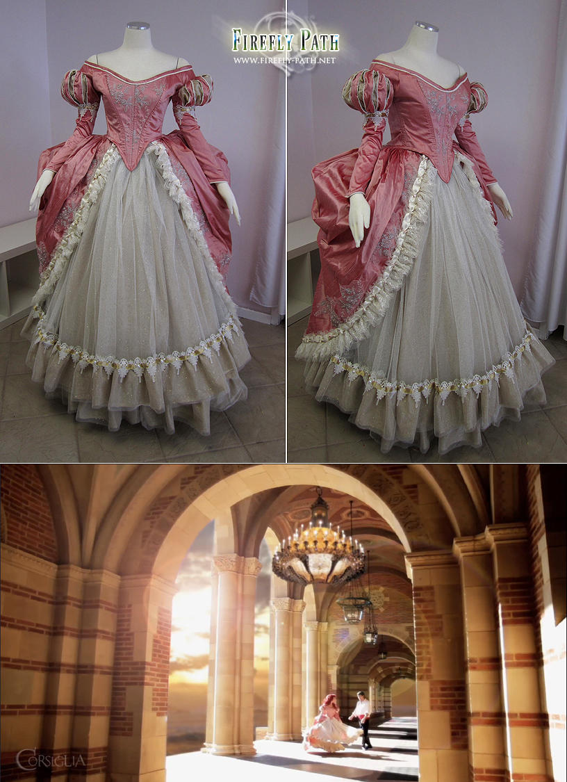 Ariel's Pink Ball Gown by Firefly-Path