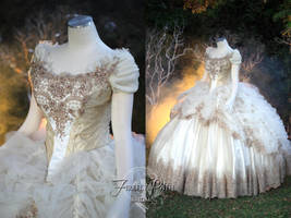 Beauty and the Beast Wedding Gown by Firefly-Path