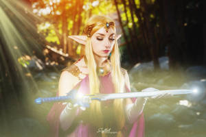 Zelda with the Master Sword by Firefly-Path