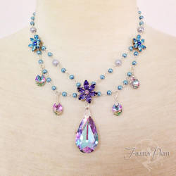 Twilight Blossom Necklace by Firefly-Path
