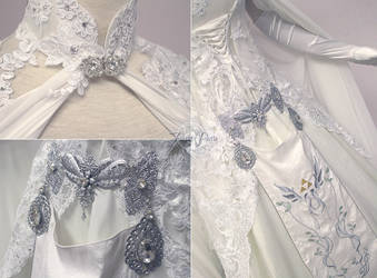Zelda Wedding Dress Details by Firefly-Path