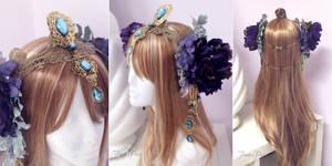 Art Nouveau Fantasy Headdress by Firefly-Path