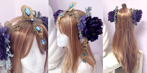 Art Nouveau Fantasy Headdress by Firefly-Path