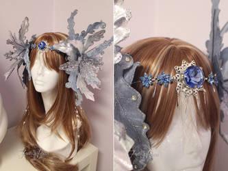Frosty Flower Headdress by Firefly-Path