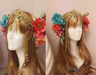 Faerie Queen Headdress by Firefly-Path