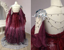 Elegant Armor Gown Back View by Firefly-Path