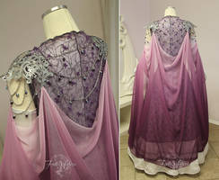 Princess Zelda Bridal Gown Back View by Firefly-Path