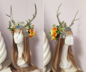 Summer Solstice Headdress by Firefly-Path