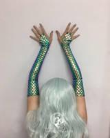 Green Mermaid Sleeves by Firefly-Path