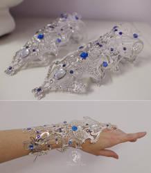 Princess Alyndra Elora Moonflower Gauntlets by Firefly-Path
