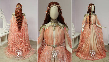 Peach Armor Gown by Firefly-Path