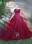 Maroon Bridal Gown by Firefly-Path