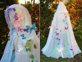 Iridescent Butterfly Cape by Firefly-Path
