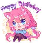 Happy Birthday Hyanna Natsu by KuaTakeru