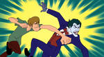 Shaggy Punches The Joker by FictionalOmniverse