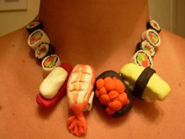 sushi necklace by schnellzz