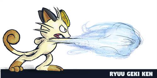 Meowth Ryuu Geki Ken by runde
