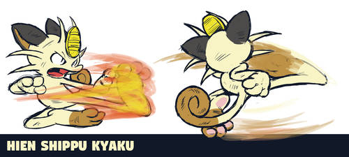 Meowth Hien Shippu Kyaku by runde
