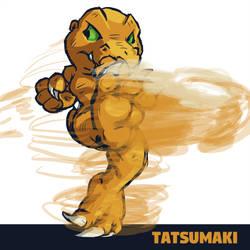 Agumon Tatsumaki Senpukyaku by runde